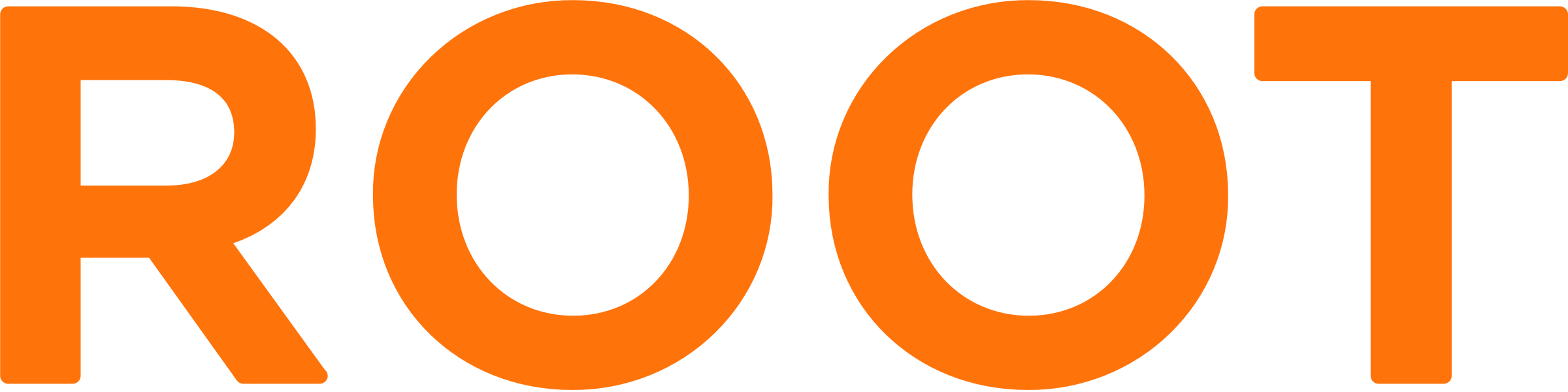 Root logo orange big